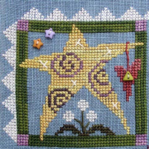 SamSarah Design Studio - Daily Life - Pearl 01 of 12 - Shine On! Cross Stitch Pattern-SamSarah Design Studio - Daily Life - Pearl 1 of 12 - Shine On! Cross Stitch Pattern
