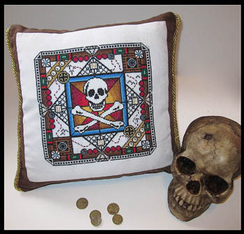 Ship\'s Manor - Pirate\'s Booty - Cross Stitch Chart-Ship's Manor, Pirate's Booty, loot, skeleton,  - Cross Stitch Chart