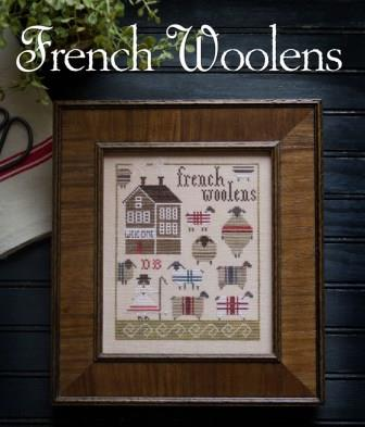 Plum Street Samplers - French Woolens-Plum Street Samplers - French Woolens, sheep, quilts, wool, farm, lamb, cross stitch, country,