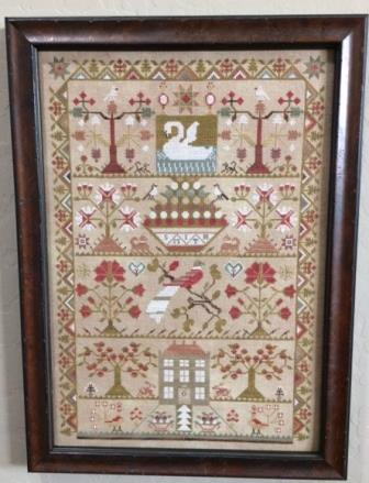 The Scarlett House - Smith Sampler-The Scarlett House - Smith Sampler, family, sampler, cross stitch