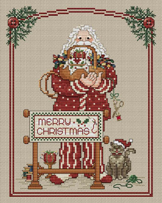 Sue Hillis Designs - Annual Santa - Stitching Santa