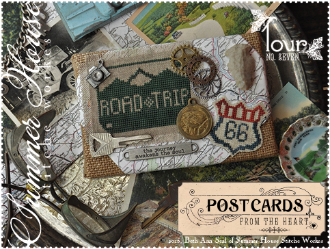 Summer House Stitche Workes - Postcards from the Heart #7 - Tour-Summer House Stitche Workes - Postcards from the Heart 7 - Tour, road trip,