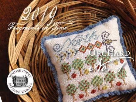 Summer House Stitche Workes - Fragments in Time 2019 - No. 1 The Orchard-Summer House Stitche Workes- Fragments in Time 2019 - No. 1 The Orchard, Shaker style, country, village, simplicity, cross stitch