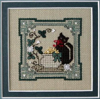 The Sweetheart Tree - Teenie Tweenie - Itty Bitty Kitty - Irish Pot of Gold - Cross Stitch Pattern-The Sweetheart Tree,Teeny Tweenie, Itty Bitty Kitty,Irish Pot of Gold,good luck, cat, gold, flowers, Cross Stitch Pattern