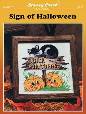 Stoney Creek - Sign of Halloween - Cross Stitch Pattern-Stoney Creek - Sign of Halloween - Cross Stitch Pattern