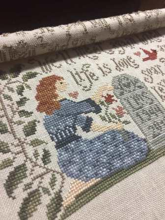 Silver Creek Samplers - When Life is Done-Silver Creek Samplers - When Life is Done, loves ones, mom, dad, aunt, uncle, death, cross stitch