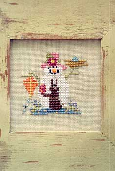 Sisters and Best Friends - Great Aunt Emma-Sisters and Best Friends,Great Aunt Emma, Snowkin series, snowman, rabbit, blue bird, bird nest, kite, spring, - Cross Stitch Pattern
