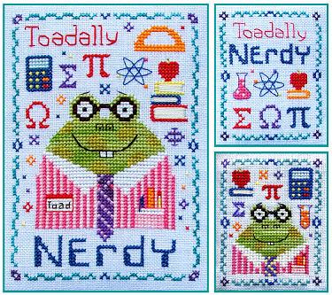 Stitchy Kitty - Toadally Nerdy-Stitchy Kitty, Toadally Nerdy, frog, toad, Cross Stitch Pattern