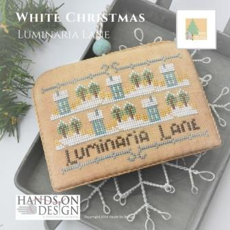 Hands On Design - White Christmas Part 2 - Luminaria Lane-Hands On Design - White Christmas Part 2 - Luminaria Lane, ornaments, Christmas, cross stitch