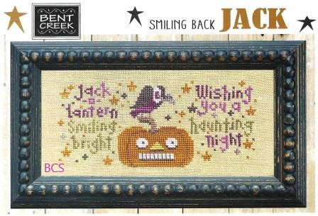 Bent Creek - Smiling Back Jack-Bent Creek - Smiling Back Jack, pumpkin, Halloween, vulture,  fall, cross stitch