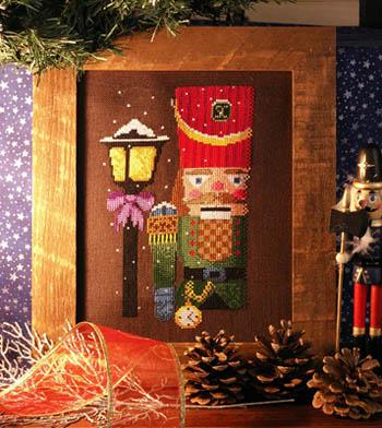 Ship's Manor - Nutcracker Glow-The Ships Manor, Nutcracker Glow, Christmas decorations, lamp light, soldier, The Nutcracker, Cross Stitch Pattern