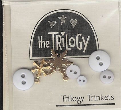 The Trilogy - Sneak Peek Winter - Trinkets - Cross Stitch Embellishments-The Trilogy - Sneak Peek Winter - Trinkets - Cross Stitch Embellishments