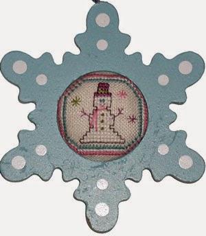 Praiseworthy Stitches - Snowman Sparkle Frame Kit - Limited Edition 2015 Nashville Release