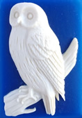 Kelmscott Designs - Snowy Owl-Kelmscott Designs - Snowy Owl, needle minders, needle, magnet, cross stitch, sewing,