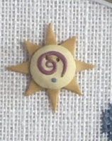 Shepherd's Bush - Ewe Are My Sunshine - Free Chart with Swirly Sun Button-Shepherds Bush - Ewe Are My Sunshine - Free Chart with Swirly Sun Button