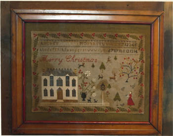 Stacy Nash Primitives - Christmas at Hollyberry Farm - Cross Stitch Pattern