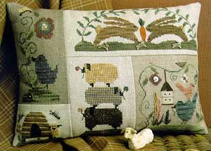Homespun Elegance - Plain and Fancy Collection - Spring Patches   Cross Stitch Pattern-Homespun Elegance -  Plain and Fancy Collection - Spring Patches   Cross Stitch Pattern