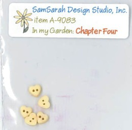 SamSarah Design Studio - In My Garden - Chapter 4 Embellishment Pack-SamSarah Design Studio, In My Garden, heart buttons, series, Chapter 4 Embellishment Pack