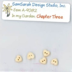 SamSarah Design Studio - In My Garden - Chapter 3 Embellishment Pack-SamSarah Design Studio, In My Garden Chapter 3 Embellishment Pack, cross stitch buttons,