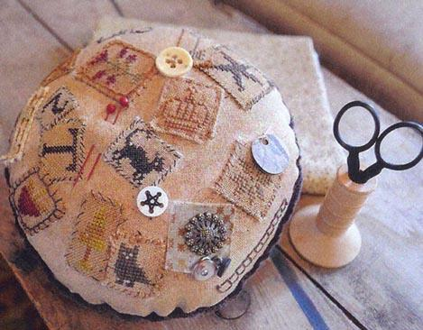 Shakespeare's Peddler - The Passport Pincushion - Cross Stitch Pattern-Shakespeare's Peddler, The Passport Pincushion, travel, passports, world traveler, travel documents, souvenir,   Cross Stitch Pattern