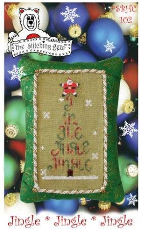 The Stitching Bear - Jingle Jingle Jingle-The Stitching Bear, Jingle Jingle Jingle, Christmas tree cross stitch,  Cross Stitch Pattern