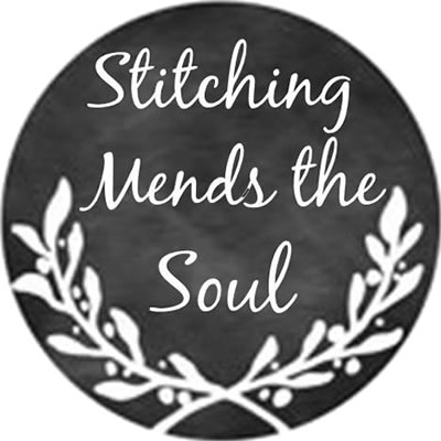 Whimsical Edge Designs - Stitching Mends the Soul Needle Minder-Whimsical Edge Designs - Stitching Mends the Soul Needle Minder, magnet, cross stitch