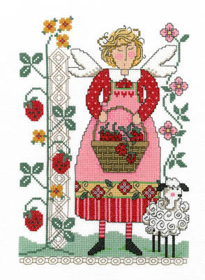Imaginating - Strawberry Time-Imaginating, Strawberry Time, fruit,  Cross Stitch Pattern
