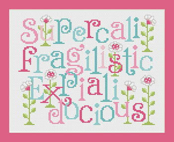 Sue Hillis Designs - Super...docious!-Sue Hillis Designs, Super...docious, Mary Poppins, sampler, Cross Stitch Pattern
