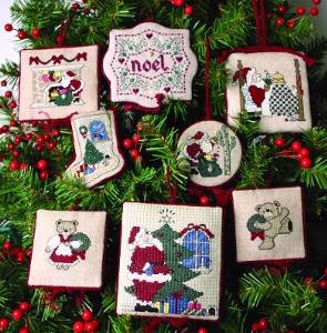The Sweetheart Tree - Christmas Revisited - Cross Stitch Patterns with Beads-The Sweetheart Tree, Christmas Revisited, ornaments, Christmas tree, noel, Santa Claus, Christmas bear, stocking, Cross Stitch Patterns, with beads