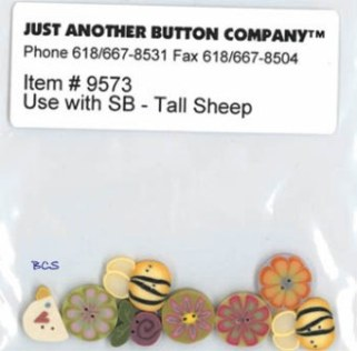 Just Another Button Company - Tall Sheep Button Pack