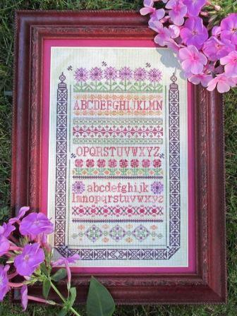 T.A. Smith Designs - My Garden-T.A. Smith Designs - My Garden, SAMPLER, FLOWERS, cross stitch
