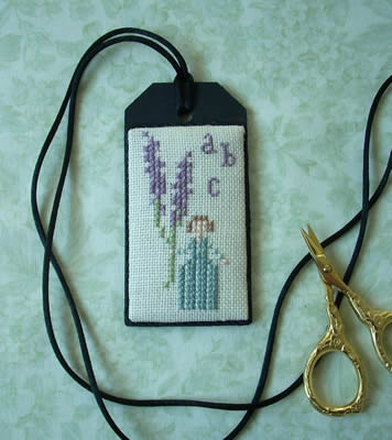 The Primitive Jewel - Lavender Girl Necklace Kit-The Primitive Jewel, Lavender Girl Necklace Kit, cross stitch chart