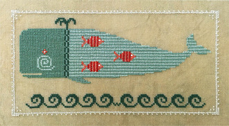 Artful-Offerings - Winsome Whale-Artful-Offerings - Winsome Whale, ocean, fish, waves, cross stitch