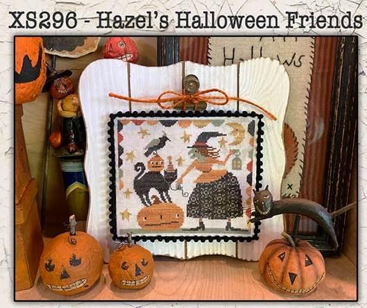 Teresa Kogut - Hazel's Halloween Friends-Teresa Kogut - Hazels Halloween Friends, witch, black cat, pumpkin, crow, moon, cross stitch, fall,