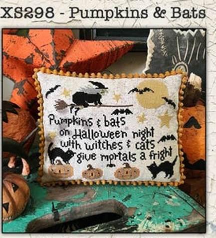 Teresa Kogut - Pumpkins & Bats-Teresa Kogut - Pumpkins  Bats, witches, cats, moon, Halloween, cross stitch