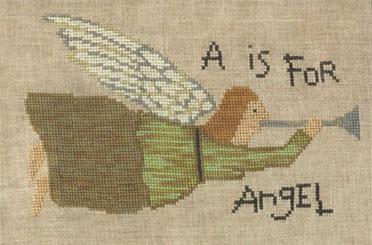 Teresa Kogut - A is for Angel-Teresa Kogut, A is for Angel, angels, horns, inspirational, Cross Stitch Pattern