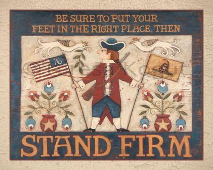 Teresa Kogut - Stand Firm-Teresa Kogut, Stand Firm, USA, American, 4th of July, 1776, american flag, eagle,  Cross Stitch Pattern