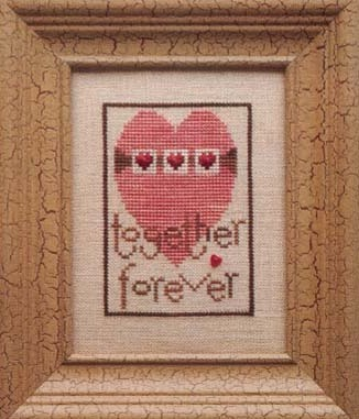 Heart in Hand Needleart - Together Forever-Heart in Hand Needleart - Together Forever, love, romance, Valentines day, marriage, cross stitch