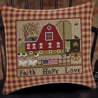 Twin Peak Primitives - A Patriotic Summer Series - Faith Hope Love-Twin Peak Primitives - A Patriotic Summer Series - Faith Hope Love, USA, America, barn, sheep, farm,
