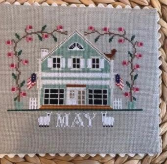 Twin Peak Primitives - I'll Be Home Mystery Series - Part 005 - May Cottage-Twin Peak Primitives - Ill Be Home Mystery Series - Part 5 - May Cottage, calendar, cross stitch
