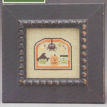The Trilogy - Domes of Doom - Chart 1 of 3 - Haunted Heads - Cross stitch Pattern-The Trilogy - Domes of Doom - Haunted Heads - Cross stitch Pattern