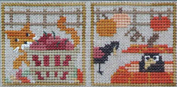 The Trilogy - Sneak Peek Autumn - Kitty & The Crows - Cross Stitch Pattern-The Trilogy - Sneak Peek Autumn - Kitty & The Crows - Cross Stitch Pattern