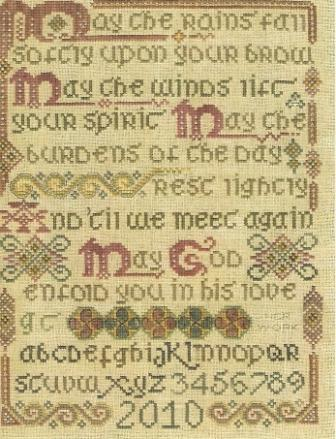 The Sewing Circle - The Celtic Blessing Sampler - Cross Stitch Pattern-The,Sewing,Circle,The,Celtic,Blessing, Sampler,God, Sayings, Verses, Flowers, Cross,Stitch,Pattern,Irish, good will,