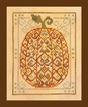Turquoise Graphics & Designs - Ornamental Pumpkin - Cross Stitch Pattern