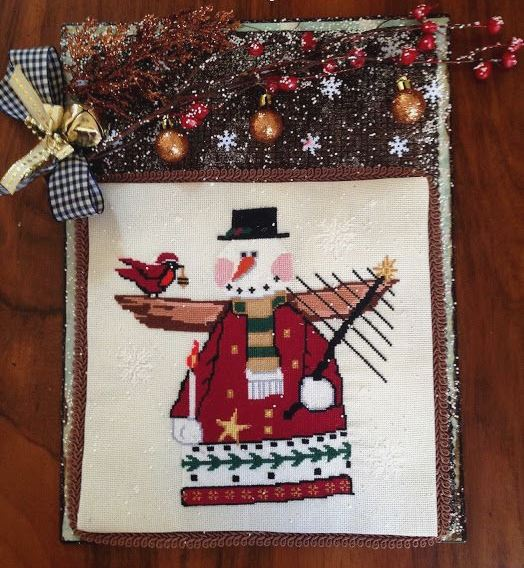 Twin Peak Primitives - Frosty's Christmas-Twin Peak Primitives - Frostys Christmas, snowman, Christmas, snow, Christmas tree, winter, cross stitch
