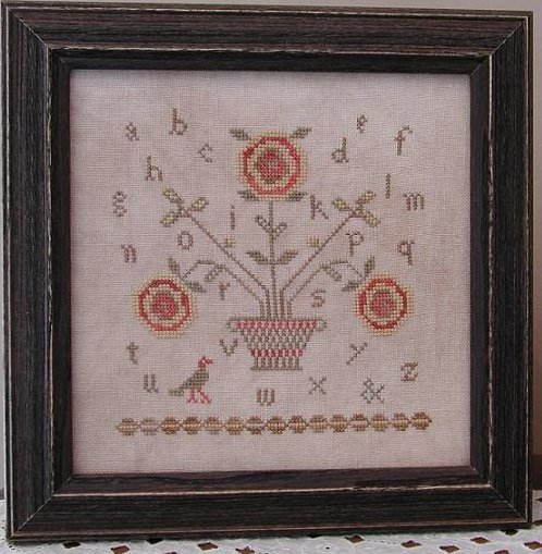 Threadwork Primitives - Cottage Charm Sampler-Threadwork Primitives - Cottage Charm Sampler, roses, sampler, primitve, cross stitch
