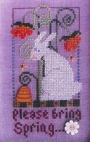 Val's Stuff - Please Bring Spring-Vals Stuff, Please Bring Spring, Easter, Easter bunny, Easter eggs, Cross Stitch Pattern
