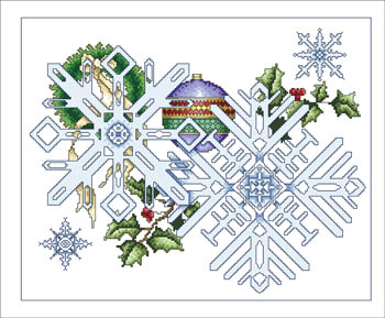 Vickery Collection - December Snowflakes - Cross Stitch Pattern-Vickery Collection - December Snowflakes - Cross Stitch Pattern