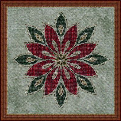 Whispered by the Wind - Christmas Flower - Cross Stitch Pattern-White Willow Stitching, Christmas Flower,