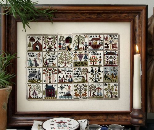 The Sampler Company - A Sampler Story-The Sampler Company - A Sampler Story, houses, motifs, flowers, historic, cross stitch